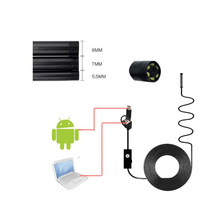 3-in-1 Endoscope 8mm 1.3MP HD C-type Waterproof Camera Detection 2m 5m 10m Hard Cable USB For Android
