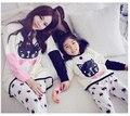 Alta Qualidade Outono Inverno Pijama De Algodão Pijama Entero Femme Mulheres Pijama Pijamas Para As Mulheres Crianças Pijama Feminino Pigiami