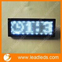 Белый цвет многоязычный 11*33 пикселей программируемый светодиодный значок имени прокрутка тег