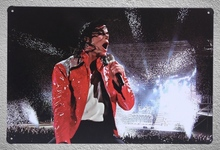 1 pc Michael Jackson Singer Dancer Famous Store Tin Plate Sign wall plaques Man cave vintage Dropshipping metal