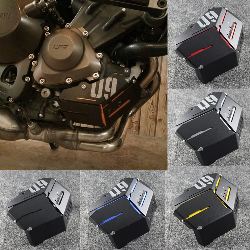 MT-09 FZ 09 Coolant Recovery Tank Shielding Cover For Yamaha MT-09 FZ-09 MT FZ 09 MT09 FZ09 2014 2015 2016 CNC kinklight 0130t 09