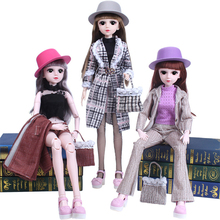 1/3 BJD Doll with Formal Dress 60cm 21 Movable Jointed Dolls Toy Accessories Clothes Suit for BJD Doll DIY Toy for Girls