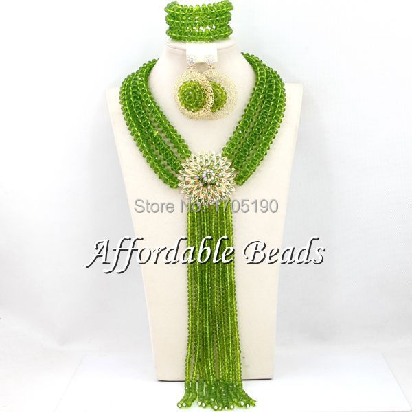 Free Shipping! African Bridal Jewelry Set Hot Selling Nigerian Beads Wholesale Handmade Item BN165 luxury african dubai jewelry sets hot wedding beads set handmade item wholesale free shipping ncd022