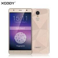 3 גרם XGODY M20 5.5 Inch Smartphone אנדרואיד 6.0 MTK Quad Core 1 + 8 GB 1280*720 IPS סמארטפון Dual סים טלפון נייד זיהוי טביעת אצבע WiFi