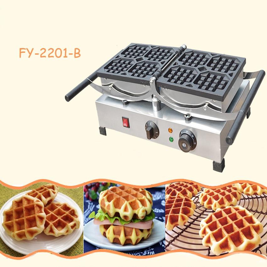1PC Flip nestle commercial electric furnace Belgium cake machine FY-2201-B 4 muffin scone machine/Flip waffle machine nestle 1 2 30