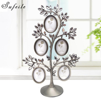 Fashion Metal Picture Frame Combination Frame White Diamond Tree Photo Frame Metal Crafts Photo Wall Ornaments