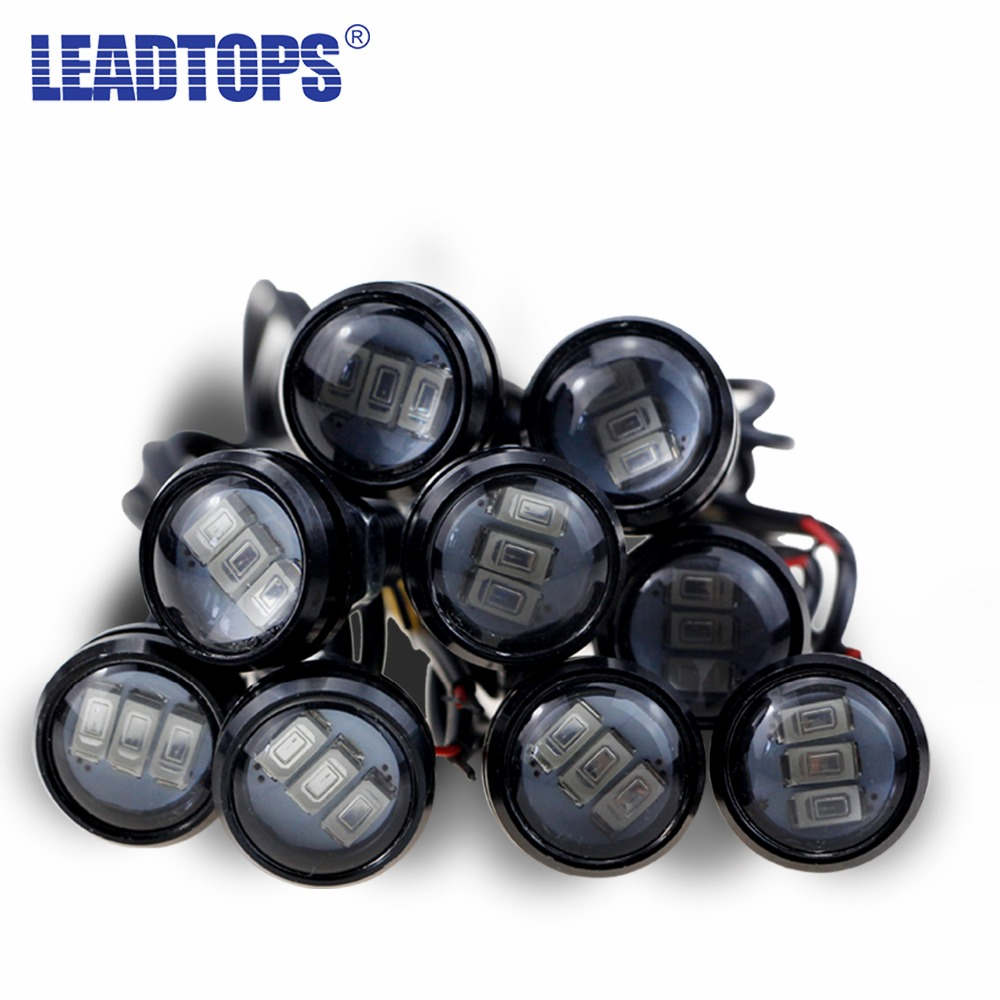 1pcs Spotlight DRL Motorcycle Eagle Eye lamp +Daytime Running Light LED Car Screw Lamp Source Waterproof For VW toyota ford CC car styling 10pcs high brightness drl 23mm eagle eye daytime running light waterproof parking lamp led car work lights source cc