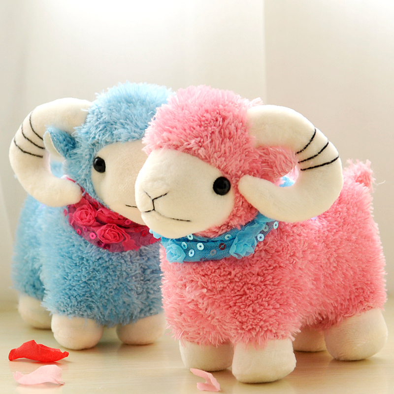 Small wool fabric toy sheep goat vending machine doll cute doll gift best girl toys 2017