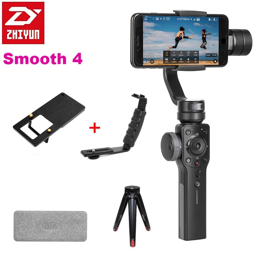 Zhiyun Lisse 4 3-Axe De Poche Zoom Capacité De Poche Cardan Stabilisateur pour iPhone X 8 P 8 Samsung S9 s8 Huawei P20 Xiaomi 6