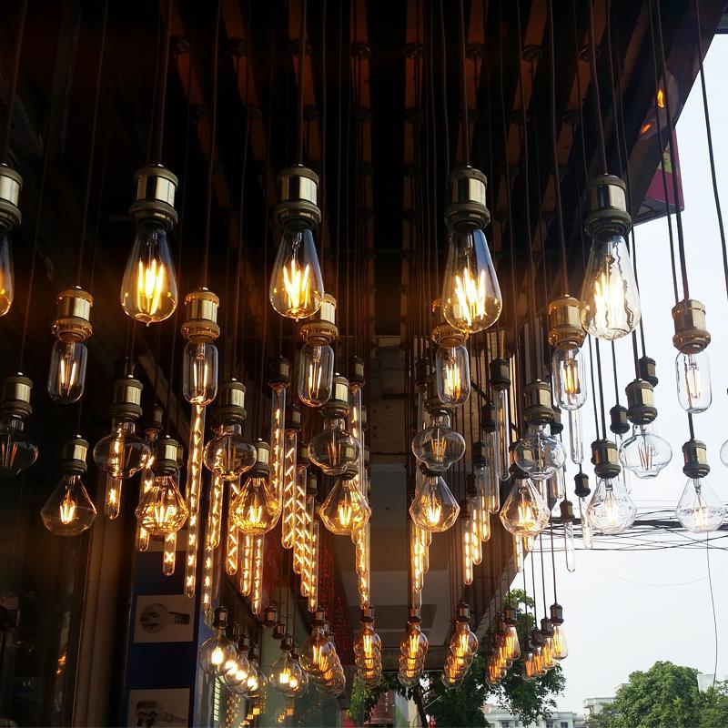 YNL E14 E27 LED Edison-birne 220V 2W 4W 6W 8W Antike Retro Vintage LED lampe Glühlampe Vintage anhänger Glas Glühbirne