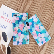Cute Shell pattern Phone Case For iPhone 6 6s Plus X XS XR Small fresh flower Back Cover 7 8 Square Mobile