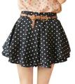 Frete Grátis 2015 Primavera Verão Moda Feminina Shorts de Cintura Alta de Bolinhas Impressas Shorts Saias Casuais Short Calças #P0765
