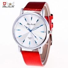 Простой масштаб Сплав серебра циферблат красный кожаный ремешок 20 мм Для мужчин пара Бизнес кварцевые часы черный наручные Для мужчин s Белый часы C415