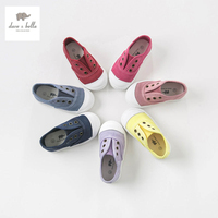 DB4688 Dave Bella Baby Solid Canvas Shoes Red Grey Navy Casual Shoes 7 Colors
