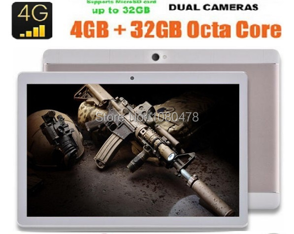 2017 Newest 10 inch Tablet PC 3G 4G Lte Ocat Core 4GB RAM 64GB ROM Dual