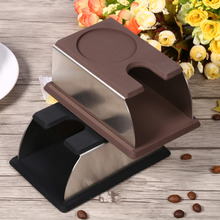Sabotaje café de Acero Inoxidable con Soporte de Silicona Accesorios Estante del Soporte de Herramientas de Preparación de Café Máquina de Café