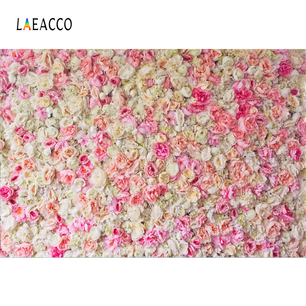 Laeacco Blossom Flowers Wall Wedding Baby Portrait Photography Backgrounds Customized  Photographic Backdrops For Photo Studio