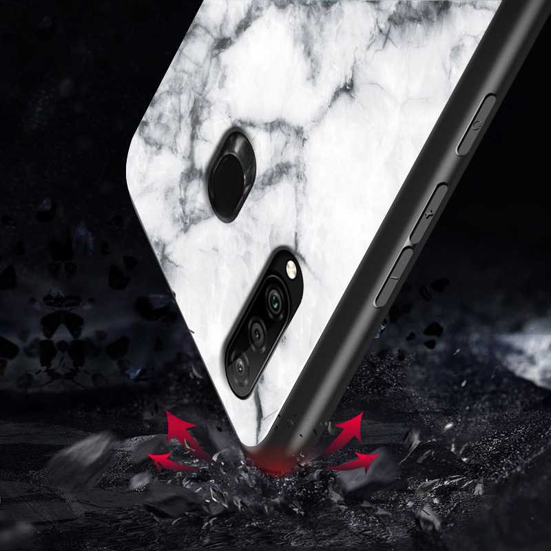 Image 3 - Marble Tempered Glass Phone Case For Samsung Galaxy A9 A8 A5 A6 Plus A7 2018 A6S A8S A30 A20 A10 A50 A70 A20E M10 M20 Cover Case-in Fitted Cases from Cellphones & Telecommunications