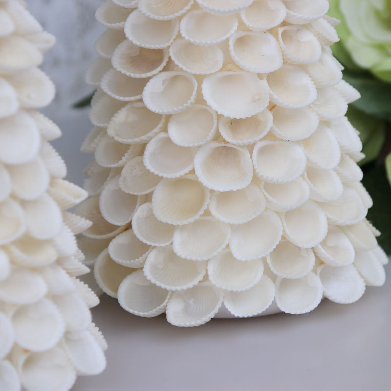 Free Shipping(1set/lot)Cockle Christmas Tree Natural Shell Conch Beach Wedding Decor Handmade Coastal Home&Christmas Decoration