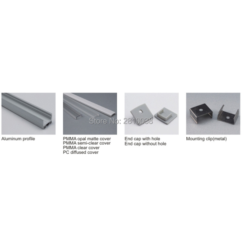12 X 1M Sets/Lot Home design aluminium led profile and 17mm wide U channel led extrusion for wall or ceiling lights