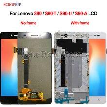 """5,0 """"для Lenovo S90 S90 T S90 U Женский ЖК дисплей с сенсорным экраном и дигитайзером в сборе, оригинал 100% протестирован для Lenovo S 90 LCD"""