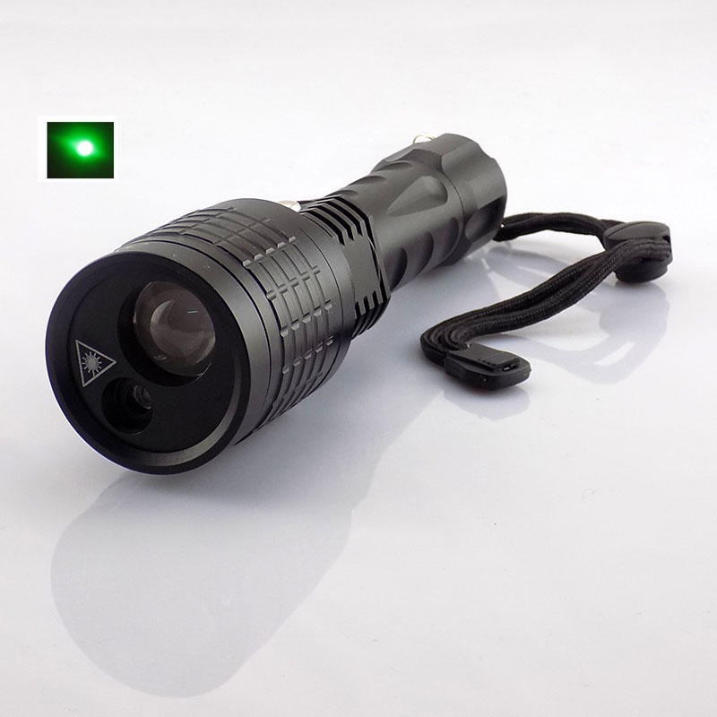 2 In 1 Green Laser Light With Led Flashlight Lazer Pointer Light Led Flash Light 800 Lumen Laser Tactical For Hunting Searching information searching and retrieval