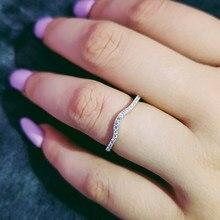 407879b81efc Anillos de eternidad de Plata de Ley 925 Real para mujeres anillo de  compromiso de boda joyería dedo pinky mujeres personalizada.