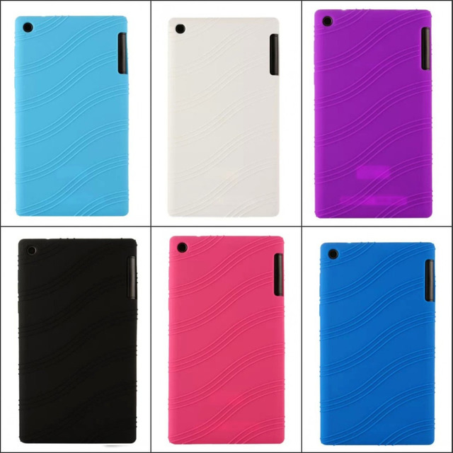 """JOVO For Lenovo Tab 2 Tab2 A7-30 A7-30TC A7 30TC A7-30HC 7""""  Soft Silicon Rubber Skin Protective Cover"""