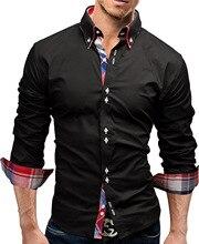 Brand 2017 Fashion Male font b Shirt b font Long Sleeves Tops font b Double b