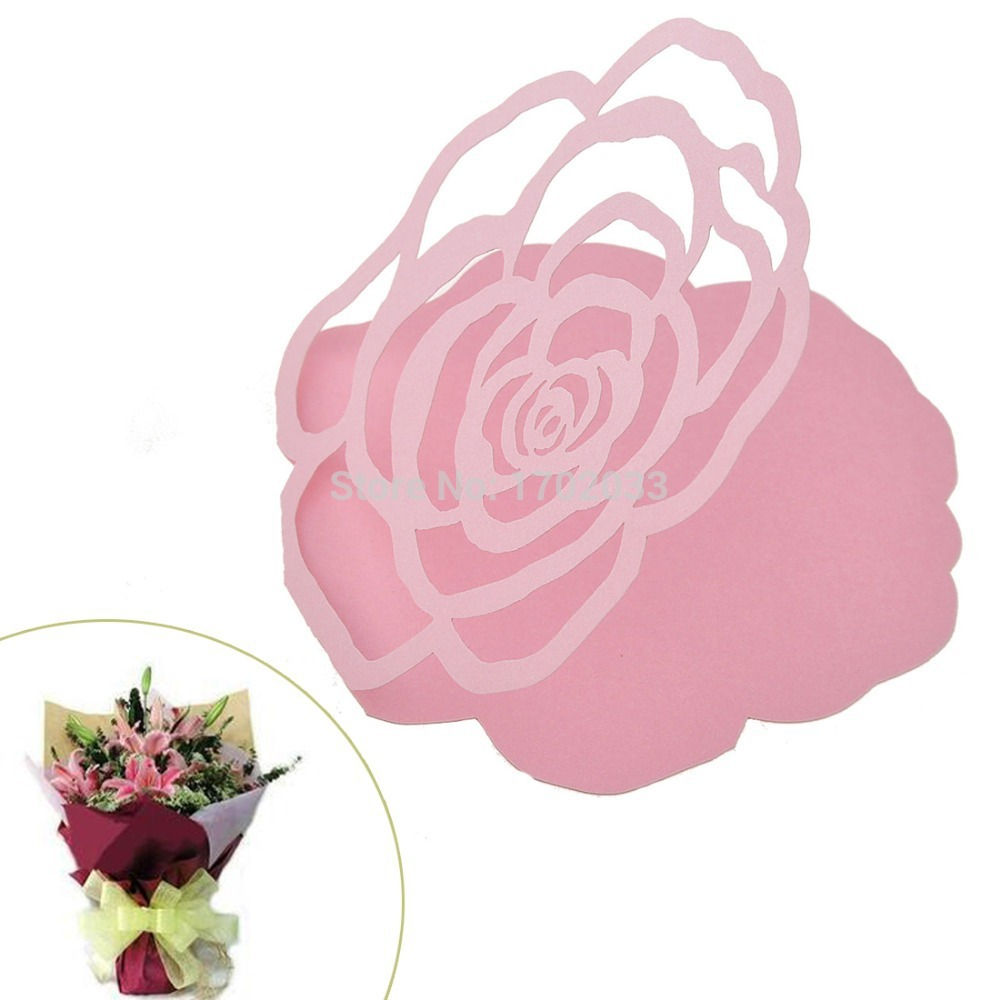 Pink Hollow out Rose DTY Souvenirs Cards mini Greeting Thanking Love ...