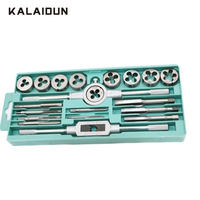 KALAIDUN Wrench Tap And Die Pro Set 12/20Pcs M3/M12 Hand Spiral Point Straight Fluted Screw Tap Internal Thread Hand Tools Kit