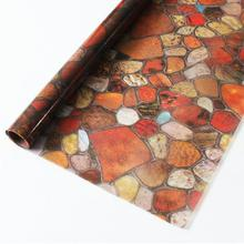 45/60*200cm Window Privacy Film Stained stone Glass Sticker non-Adhesive Static Decorative films bedroom Frosted Home Decor