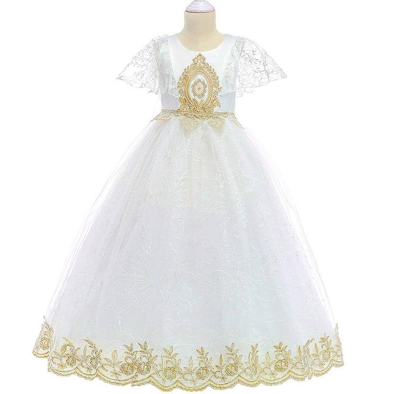 Wedding Birthday Flower Girl Dresses For Wedding Girls Dress First Communion Princess Beading Dress Baby Evening Costume LP-208
