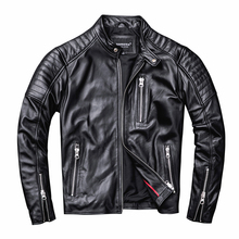 Free shipping.style soft mens motor biker leather Jacket,man