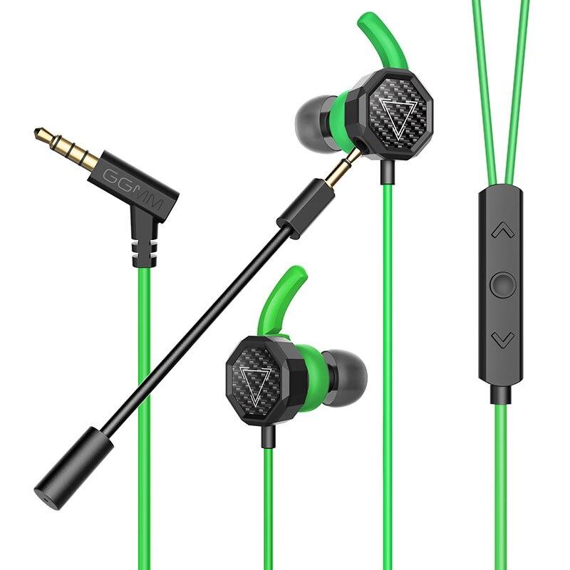 GGMM G1 Gaming Headset Earphone With HD Clear Mic Gaming Earphones Kulaklik Auriculares Phone PC Gamer For PUBG CSGO etc.Games