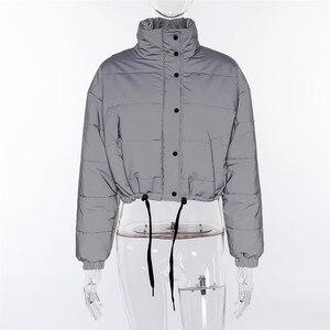 Image 5 - Hugcitar veste épaisse à manches longues, poche fermeture éclair réfléchissante, coton, matelassée, parka nouvelle mode automne hiver 2018