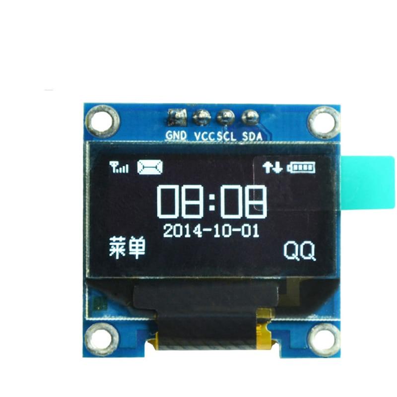 0.96 inch IIC Serial White OLED Display Module 128X64 I2C SSD1306 LCD Screen Board GND VCC SCL SDA 0.96 Oled I2C for Arduino