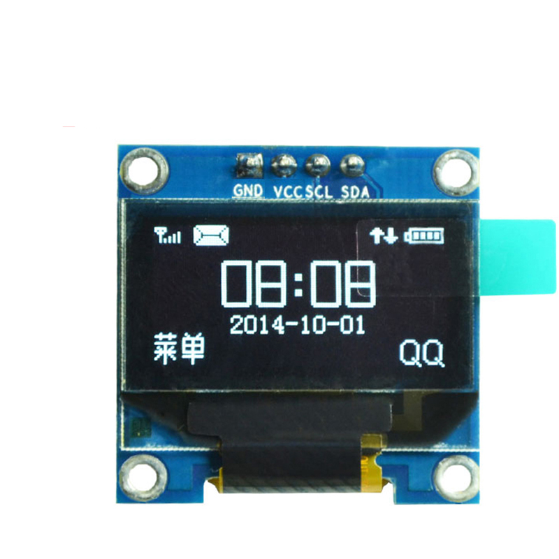 "Para Arduino Módulo de pantalla Oled de 0,96 pulgadas de la CII en serie Blanco 128X64 I2C SSD1306 monitor de pantalla LCD GND VCC SCL SDA 0,96 ""Oled I2C"