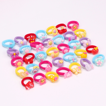 10PCS Candy Cartoon Child Kids Hair Holders High Quality Rubber Hair Bands Elastics Headwear Hair Accessories 1