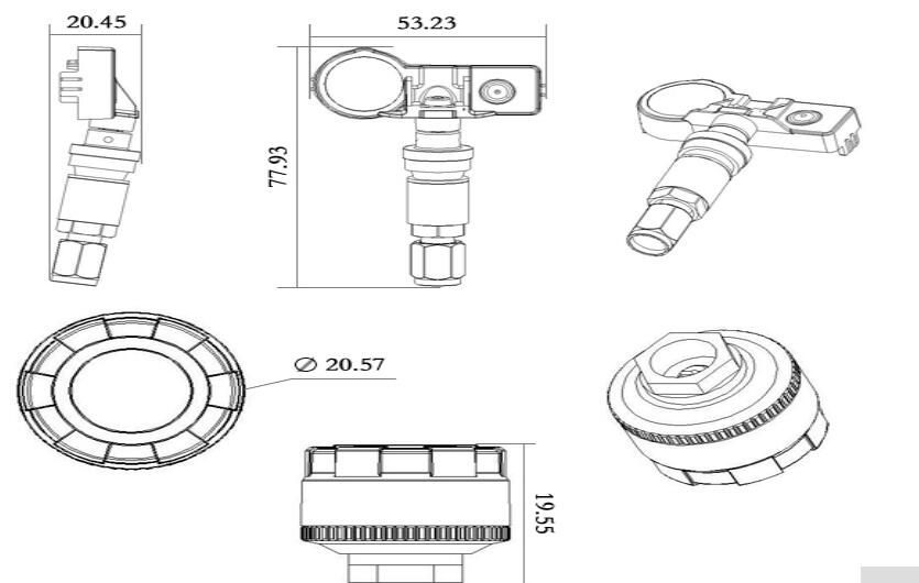 датчик давления в шинах tpms встроиный бесплатная доставка