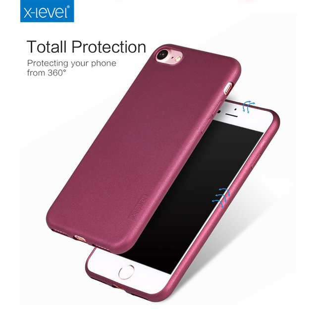 703497d262b1 For Iphone 7 7 Plus Cases X-Level Guardian Series Solid Color TPU Phone Case  Total Protection Soft Phone Cover