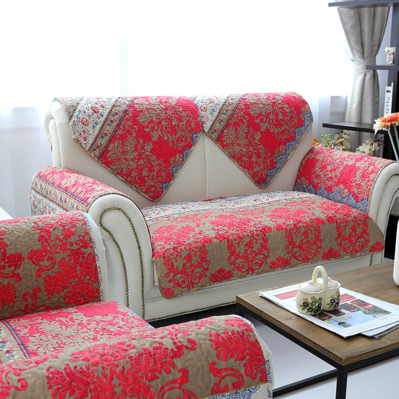 Red Christmas decorations for home sofa covers for living room