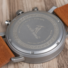 BOBO BIRD Men Wood Watches Luxurious Chronograph Watch New Design Fashion Elegant Quartz Wristwatch relogio masculino K-nR01