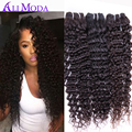 4Bundles Brazilian Curly Virgin Hair 6A Brazilian Deep Wave Human hair Weave Bundles Brazilian Curly Hair Ali Moda hair Products