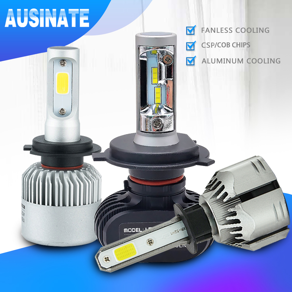 H4 H7 LED H1 H3 H8 H9 H11 9006 9005 Auto Car Headlight Bulb CSP Chip 50W 8000LM Automobile Headlamp Fog Light 6500K Led Lamp 12V