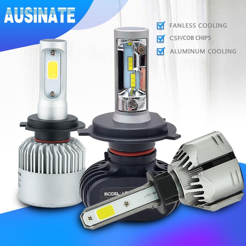 H4 H7 LED H1 H3 H8 H9 H11 9006 9005 Λαμπτήρας αυτοκινήτου προβολέα αυτοκινήτου CSP Chip 50W 8000LM Φώτα ομίχλης αυτοκινήτου Φωτισμός λαμπτήρα 6500K 12V