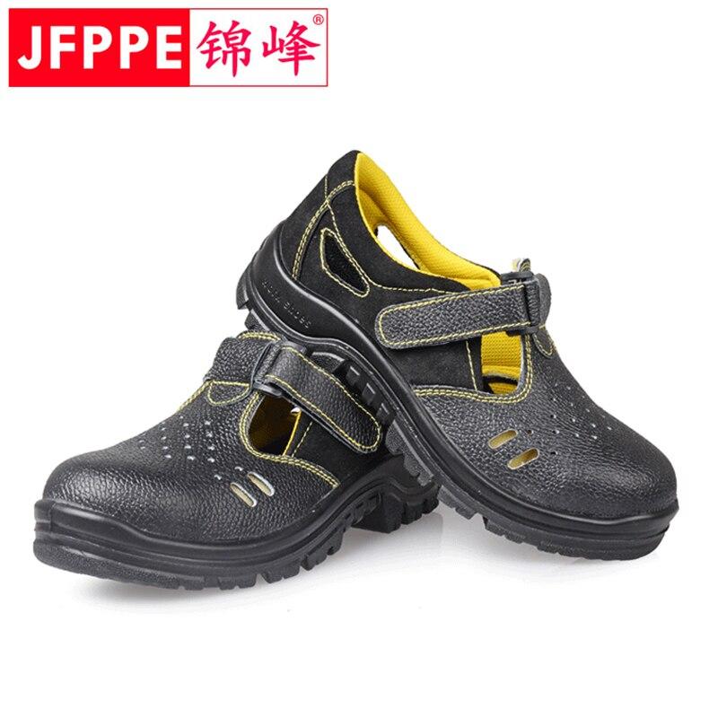 2019 Homens com Biqueira de Aço Sapatos de Segurança do Trabalho Verão Outono Anti-perfuração Respirável Sapatos Anti-esmagamento sapatos de Segurança Industrial Leve