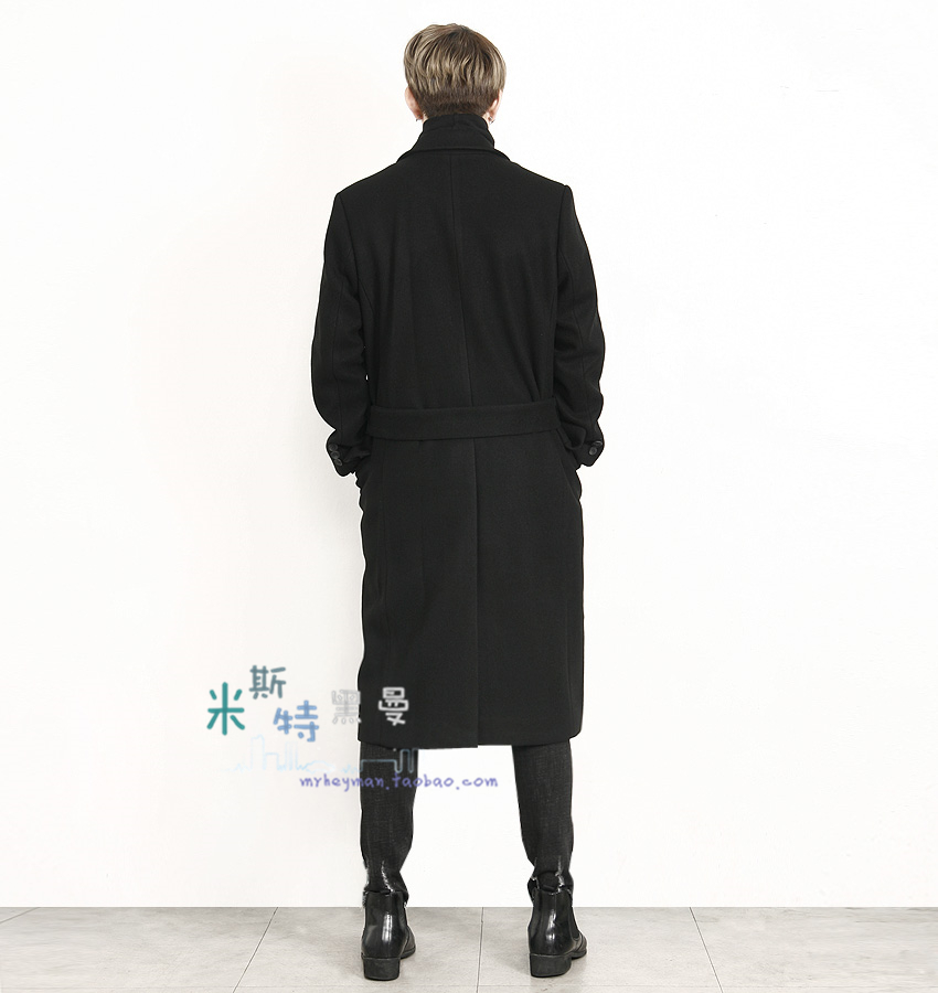 Hommes Manteau La Lâche Longue Et Ceinture Coréenne ManteauS unis Avec Version Nouvelle États De Laine 6xl Europe Les Hiver Femmes Noir 8mn0wNvyO