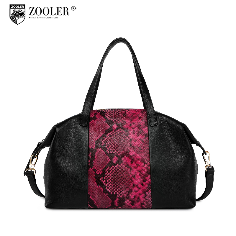 ZOOLER Brand Genuine Leather  Women's bags Shoulder Bag Fashion Style Tote Bag for Lady Luxury Handbags Women Bags Designer Z131 laorentou luxury genuine leather women handbags crossbody bags for women brand designer tote bag new trend color lady bag n56