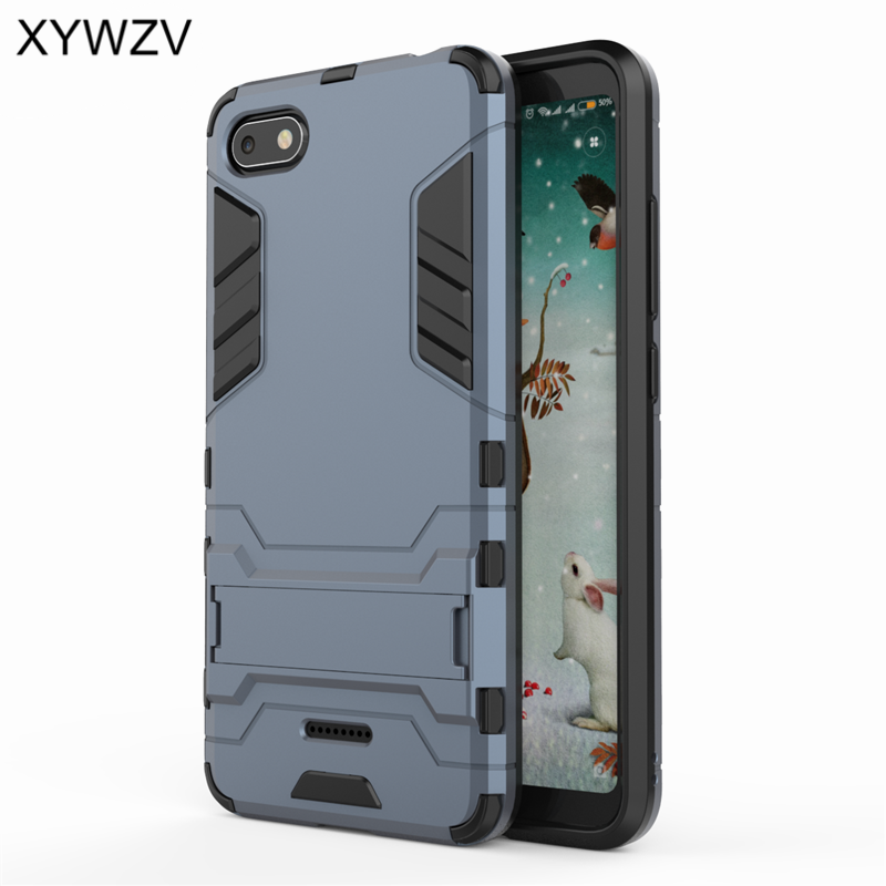 Cover Xiaomi Redmi 6A Case Luxury Armor Robot Silicone Phone Case For Xiaomi Redmi 6A Back Cover Xiaomi Redmi 6 A Shell Fundas in Fitted Cases from Cellphones Telecommunications